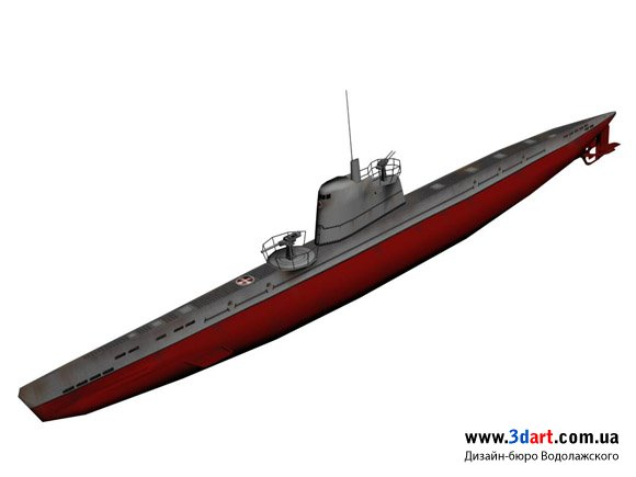 Low poly Подводная лодка