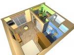 Перепланировка 1-комнатной квартиры