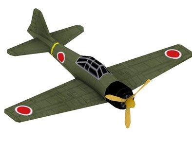 Анимация полета самолета A6M3 WW2 Plane Animation