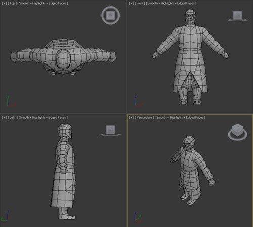 Привязка персонажей в 3ds Max: Physique, Skin