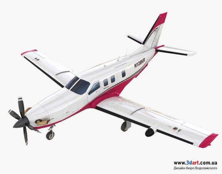3d модель самолета TBM850