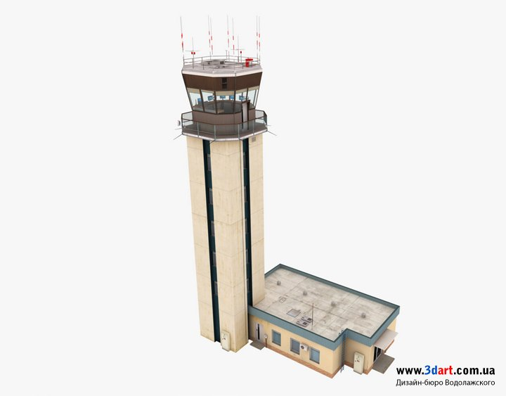 Архитектурная визуализация диспетчерской вышки